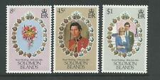 1981 Royal Wedding  set of 3 complete MUH/MNH as issued