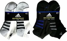 Adidas Men's Low-Cut Performance Socks Size 6-12 Cushioned Athletic, 6 Pairs