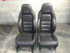 06-08 Corvette C6 Z06 Seats Seat Set Leather Heated Aa6508