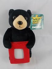 Wild Republic Black Bear Plush w/ Picture Holder 7""