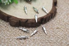 60pcs bullet charme antique tibétain argent 3D mini bullet pendentifs charms 15x3mm