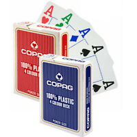 Copag 4 COLOUR DECK playing cards Jumbo 100% Plastic Color Poker size 1 Deck NEW
