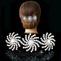 Fashion Rhinestone Hairpin for Women Banana Clip Bow Girls Hair Clip Barettes