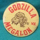 rare godzilla vs megalon pin back button vintage
