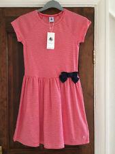 GIRLS PETIT BATEAU SHORT SLEEVE DRESS  RED / WHITE STRIPE  10YEARS 140cms-NEW