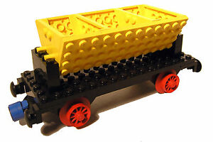 Lego® Eisenbahn 12V Kipplorenwaggon aus 725 Waggon Trains 4,5V