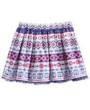 Epic Threads Girls Skirt Geometric Print Ruffled Hem Pink Gray Navy Sz 3T NWT