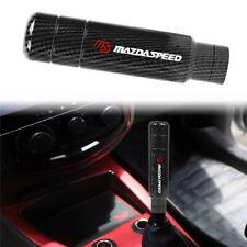 Mazdaspeed Carbon Look Aluminum Manual Gear Stick Shift Knob Shifter 13cm