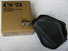 (PRL) NIKON CS-21 CS 21 CASE ETUI SOUPLE CUSTODIA KAMERATASCHE F-4E CUIR LEATHER