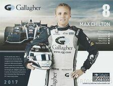 2017 Max Chilton Gallagher Honda Dallara Indy Car postcard