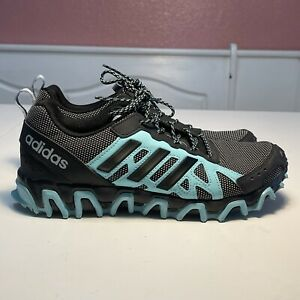 Adidas Incision Womens Trail Running Training Shoes Mint Black Size 7.5 Uk6