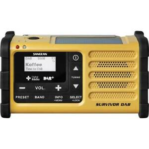 Sangean Survivor DAB Outdoorradio DAB+, UKW USB Akku-Ladefunktion,