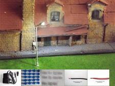 10 Model rail Train Lamppost Street light 3 Volt  LED  Transformer suit Hornby 4
