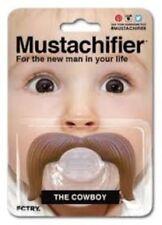 NEW Mustachifier Pacifier Infant Baby boy Cowboy Gentleman mustache Costume Nino