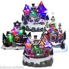 Christmas LED Light Up Musical Festive Winter Village Indoor Lights Decoration