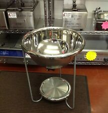 """22"""" Polished Stainless Steel Party Bowl 29"""" High Ice Bucket Bottles Brand New"""