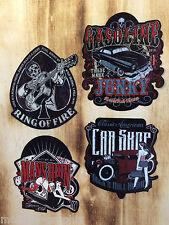2x 4er Oldschool Pinup Rockabilly Adesivo Set-Hot Rod Cash Mens rovina Sticker