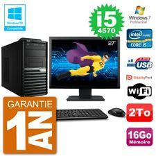 "PC Acer Veriton M4630G MT Ecran 27"" i5-4570 RAM 16Go Disque 2To DVD Wifi W7"