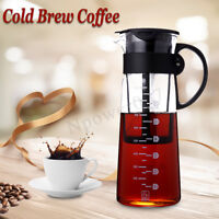 1.0L Cold Brew Iced Coffee Maker Airtight Seal Glass Carafe Tea Pot w/ Filter AU