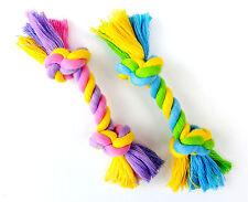 2 er Set Welpenspielzeug 15 cm Hundespielzeug Knotenseil Zahnpflege Baumwolle