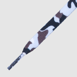 Laces Mr Lacy Printies, Flat printed shoe laces- Camo White Style
