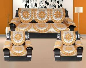 Handmade Printed Sofa Cover Slipcover CouchSet of 5 Seater  with 6 Arm 12 Pcs