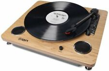 Ion Archive LP Record Player Digital Conversion Turntable Speakers Wood F/S K