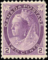 1898 Mint H Canada F-VF Scott #76 2c Queen Victoria Numeral Issue Stamp
