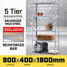 5 Shelf Garage Storage Rack Shelves Metal Shelving Racking 180x90cm Steel