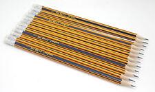 12 x HB Pencils - Eraser Tip - Hexagonal Barrel - Pre-Sharpened