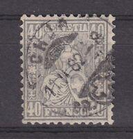 """Schweiz - 1881, MiNr. 42, gest. - 40 C. """"Sitzende Helvetia"""", Attest Marchand !!!"""