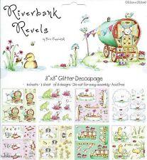 Helz cuppleditch Riverbank cuenta 8 X 8 Brillo Decoupage paquete de muestra - 8 Hojas