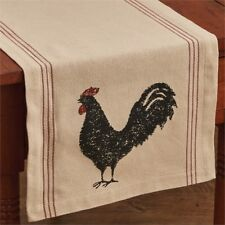 New Farmhouse Chic Red HEN PECKED Chicken Rooster Feed Sack Table Runner 54