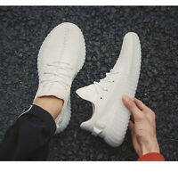 Men's Casual Sneakers Breathable Fitness Sports Running Shoes Fashion Gym White