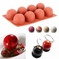 8 Cavity Silicone Ball Shaped Chocolate Cake Mold Pastry Mould Baking Tool