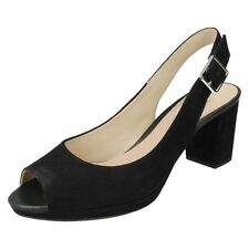 Slingbacks Standard (D) Width 100% Leather Heels for Women