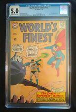 World's Finest Comic #153 CGC 5.0 DC Comics . Batman slaps Robin meme book