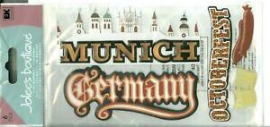 Germany Munich Octoberfest Beer Sausage Bratwurst Visit Travel Jolee's Stickers