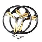 "26"" MTB Bike Magnesium Wheel Set Rims Wheelset 6/7/8/9/10 Speed W/QR Disc Brake"