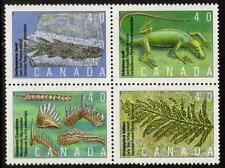 Canada MNH 1991 Prehistoric Canada - Primitive Vertebrates-Block of 4