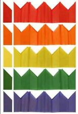 100 Cracker Hats - Assorted Colours - Christmas Tissue Paper Birthday Party
