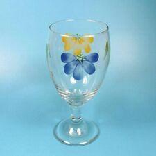Maxam MEDITERRANEAN ITALIAN DAISY Glass Water Goblet -4 available