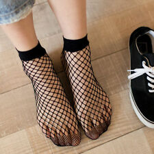 Fashion Women Lady Ruffle Fishnet Ankle High Sock Mesh Lace Fish Net Short Socks