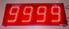 "4 DIGIT PRODUCTION COUNTER DISPLAY in 6"" High LED Digits"