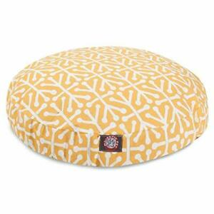 Citrus Aruba Medium Round Indoor Outdoor Pet Dog Bed With Removable Washable ...
