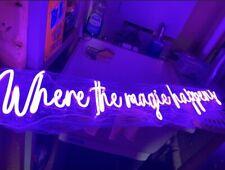 neon light sign Where The Magic Happens