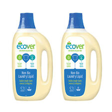 Ecover Non Bio Laundry Liquid 1.5 litre Pack of 2 - Dermatologically Tested