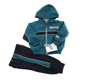 NWT NEW NFL Philadelphia Eagles Wind Breaker Jacket & Pant Set Boy Size 18 Month