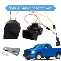 125db Loud 12V 410/510Hz High Low Tone Snail Horn For Ford F-150 MK12 2009-2014