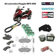 Kit entretien courroie filtre plaquette frein bougie galet Piaggio MP3 400